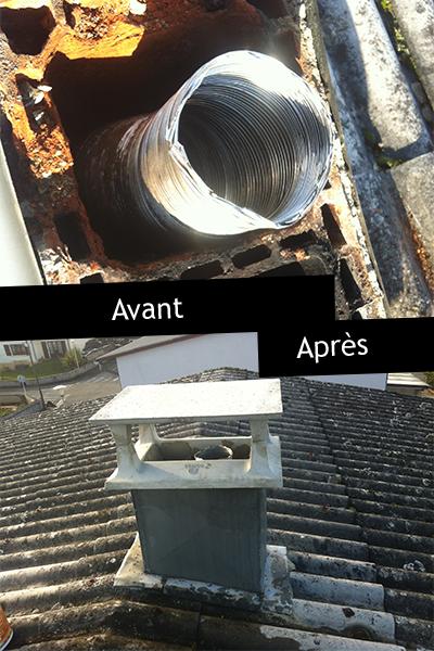 Les pr stations de ramonage et autres services frederic for Pose d un chapeau de cheminee